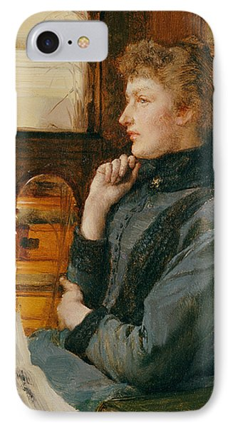 Far Away Thoughts IPhone Case by Sir Lawrence Alma-Tadema