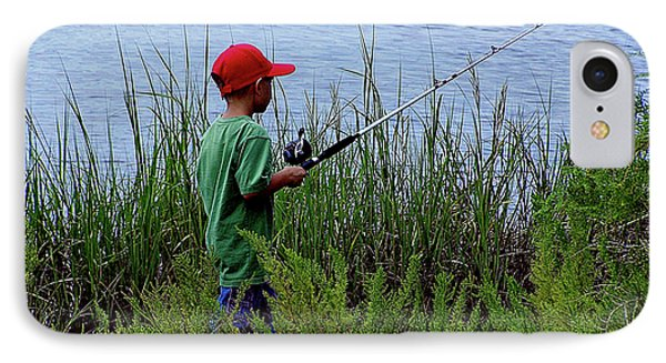 Fishing At Hickory Mound IPhone Case