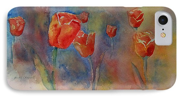 Floating Tulips IPhone Case by Becky Chappell