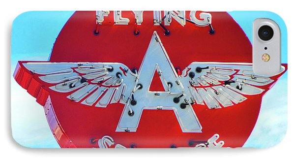 Flying A Service Sign IPhone Case by Joan Reese