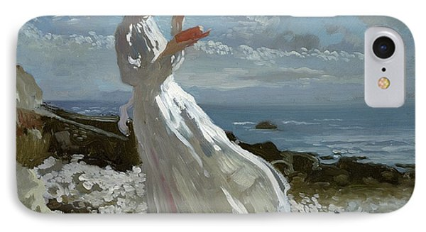 Grace Reading At Howth Bay Phone Case by Sir William Orpen