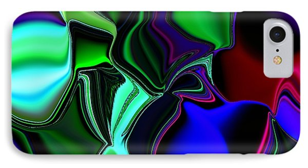 IPhone Case featuring the digital art Green Nite Distortions 4 by Greg Moores