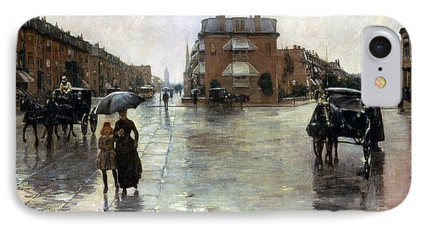 Hassam: Rainy Boston, 1885 IPhone Case by Granger