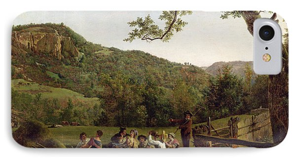 Haymakers Picnicking In A Field IPhone Case