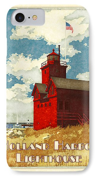 Holland Harbor Lighthouse Phone Case by Antoinette Houtman