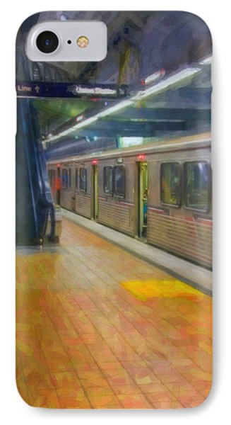 IPhone Case featuring the photograph Hollywood Subway Station by David Zanzinger