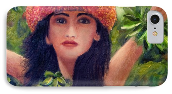 Hula Dancer Kahiko #422 Phone Case by Donald k Hall
