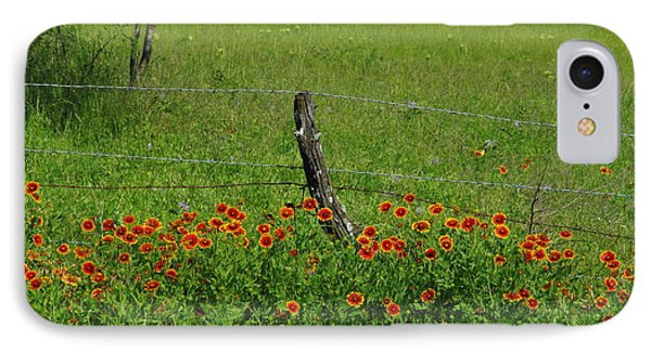 Indian Blanket Fence IPhone Case
