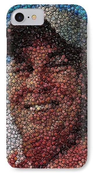 Jimmy Buffet Bottle Cap Mosaic Phone Case by Paul Van Scott