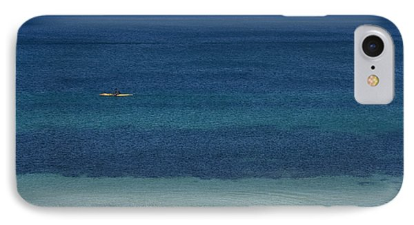 Kayaking On The Coastline Of Wa IPhone Case