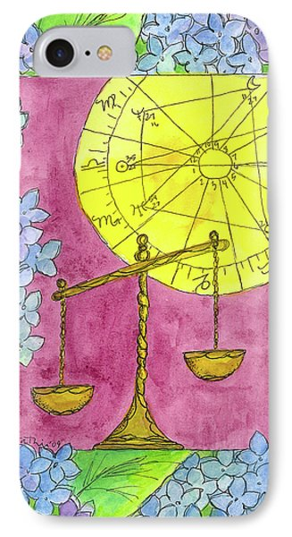IPhone Case featuring the painting Libra by Cathie Richardson