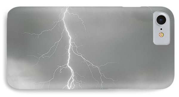 Lightning Strike Colorado Rocky Mountain Foothills Bw Phone Case by James BO  Insogna