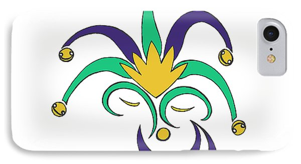 Mardi Gras Jester IPhone Case by Alycia Christine