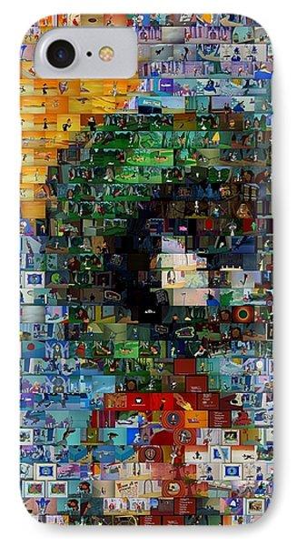 Marvin The Martian Mosaic IPhone Case by Paul Van Scott