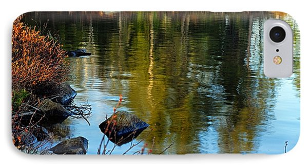 Morning Reflections On Chad Lake IPhone Case by Larry Ricker