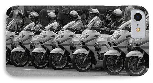 Motorcycle Brigade IPhone Case by Robert Knight