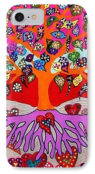 My Heart Flowers For You Phone Case by Sandra Silberzweig