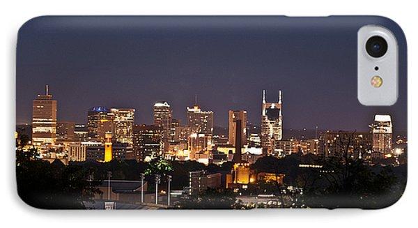 Nashville Cityscape 1 Phone Case by Douglas Barnett