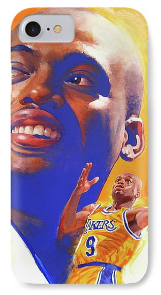 Nick Van Exel IPhone Case by Cliff Spohn