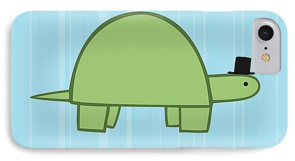 Nursery Art Boy Turtle IPhone Case by Christy Beckwith