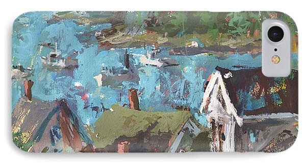IPhone Case featuring the painting Original Modern Abstract Maine Landscape Painting by Robert Joyner