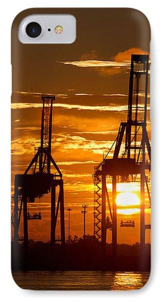 Port Of Charleston Sunset II  Phone Case by Dustin K Ryan