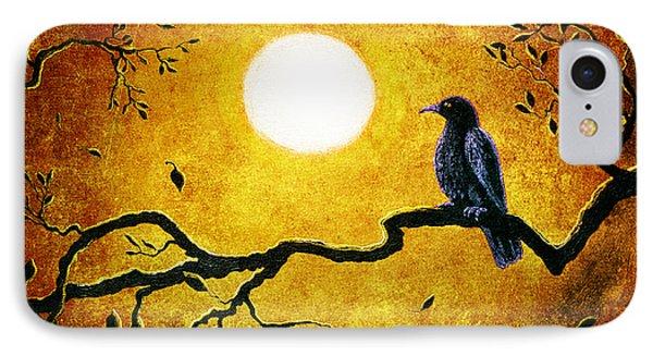 Raven In Golden Splendor IPhone Case