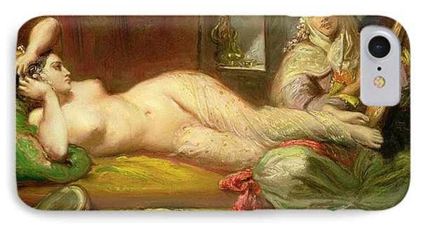 Reclining Odalisque IPhone Case by Theodore Chasseriau