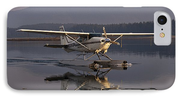 Reflections Of A Float Plane IPhone Case by Darcy Michaelchuk