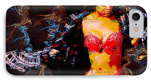 Rihanna Abstract By Gbs IPhone Case by Anibal Diaz
