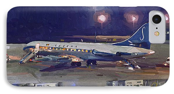Sabena Caravelle At Stockholm 1965 IPhone Case by Nop Briex