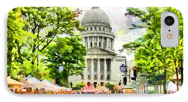 Capitol Building iPhone 7 Case - Saturday In Madison by Anthony Caruso