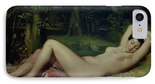 Sleeping Nymph Phone Case by Theodore Chasseriau
