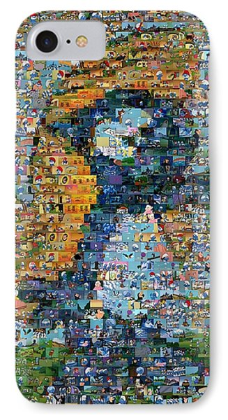 Smurfette The Smurfs Mosaic Phone Case by Paul Van Scott