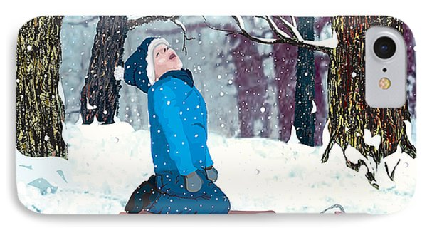 Snow Trance IPhone Case by Terry Cork