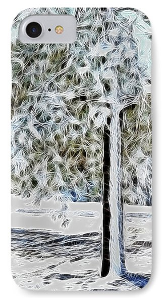 Snowy Tree IPhone Case