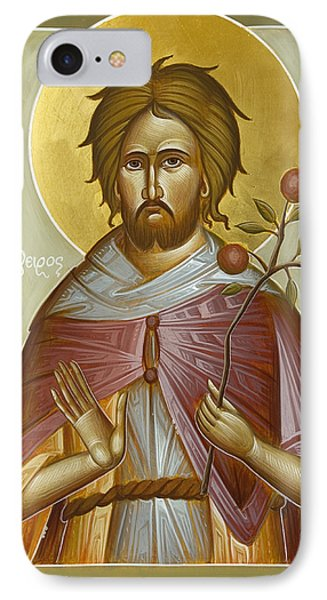 St Euphrosynos The Cook Phone Case by Julia Bridget Hayes