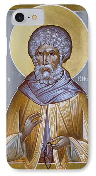 St Moses The Ethiopian Phone Case by Julia Bridget Hayes