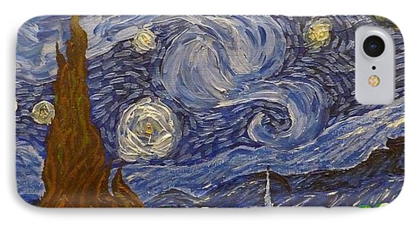 Starry Night - An Ode To Vincent IPhone Case by Joshua Redman