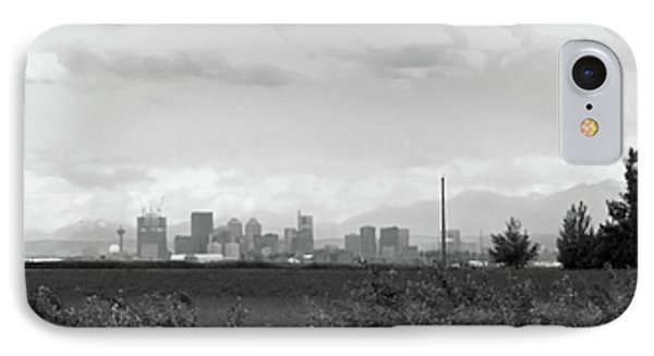 Stormy Day Calgary Cityscape Phone Case by Lisa Knechtel