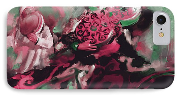 Sufi Whirling 450 Iv IPhone Case by Mawra Tahreem