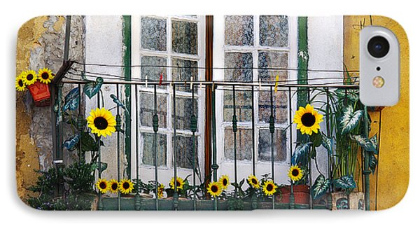 Sunflower Balcony IPhone Case by Carlos Caetano