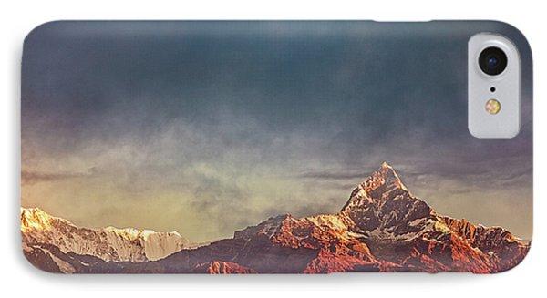 Sunrise On Anapurna IPhone Case by Stefan Nielsen