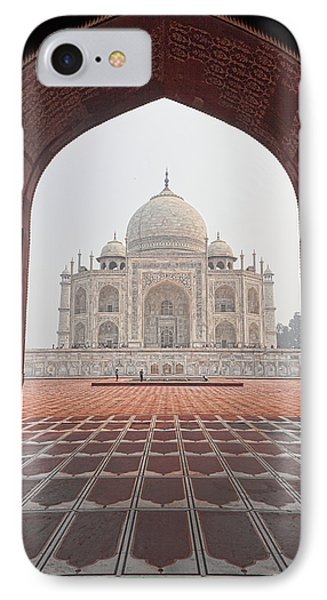 IPhone Case featuring the photograph Taj Mahal - Color by Stefan Nielsen