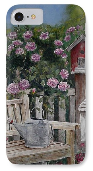 IPhone Case featuring the painting Take A Seat by Mary-Lee Sanders
