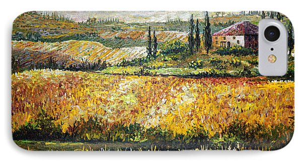 IPhone Case featuring the painting Tuscan Wheat by Lou Ann Bagnall