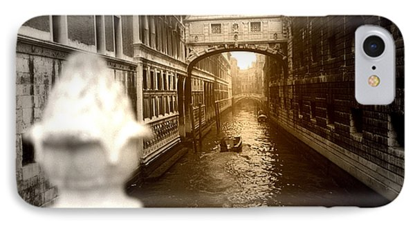 Venice Canal With Sunlight IPhone Case by Emanuel Tanjala