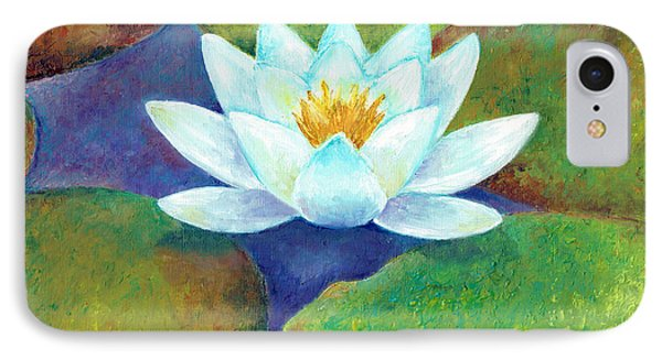 IPhone Case featuring the painting Waterlily by Elizabeth Lock
