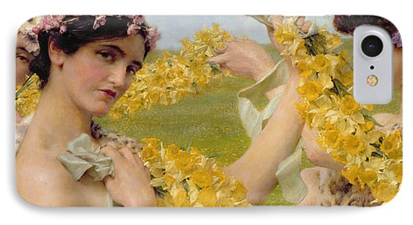 When Flowers Return IPhone Case by Sir Lawrence Alma-Tadema