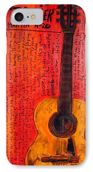 Willie Nelson's Trigger Phone Case by Karl Haglund